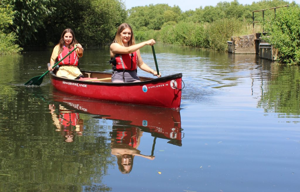 Canoeing on the River Stort